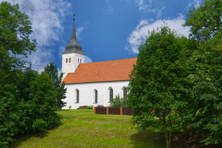 Johns Church in Viljandi in Estonia. Builded in middle of the 17th. Church in nice summer day.