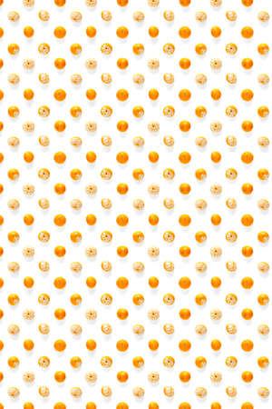 Isolated tangerine citrus collection background. Whole tangerines or mandarin orange fruits isolated on white background not pattern Stock fotó