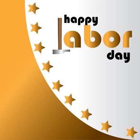 Happy Labor Day Closed Today Sign Vector Text for posters, marketing, social media, greeting cards, advertisement - Vector Ilustração