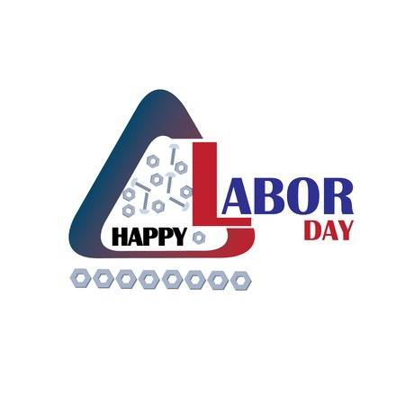 Happy Labor Day Closed Today Sign Vector Text for posters, marketing, social media, greeting cards, advertisement - Vector 向量圖像