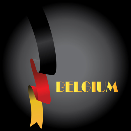 Vector illustration,banner or poster for independence day of belgium 向量圖像