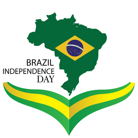 vector illustration. Brazilian national holiday Independence Day of Brazil is celebrated on 7 September. graphic design in symbolic colors business cards, invitations, gift cards, - Vector