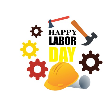 Happy Labor Day banner. Design template. Vector illustration - Vector Stock Illustratie