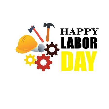 Happy Labor Day banner. Design template. Vector illustration - Vector Stock Illustratie
