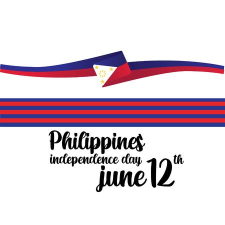 Illustrazione di progettazione del modello di vettore di giorno dell'indipendenza delle Filippine - Vector Vettoriali