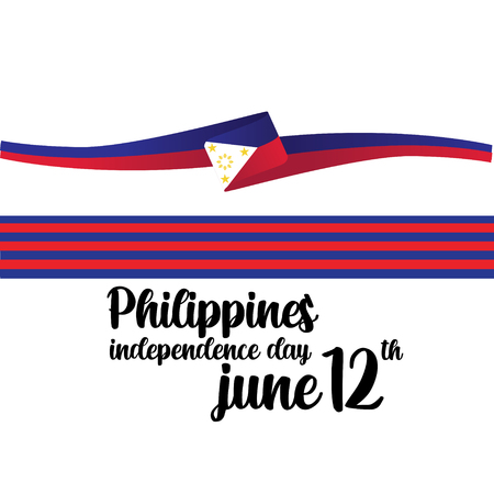 Philippines Independent Day Vector Template Design Illustration - Vector Vector Illustratie