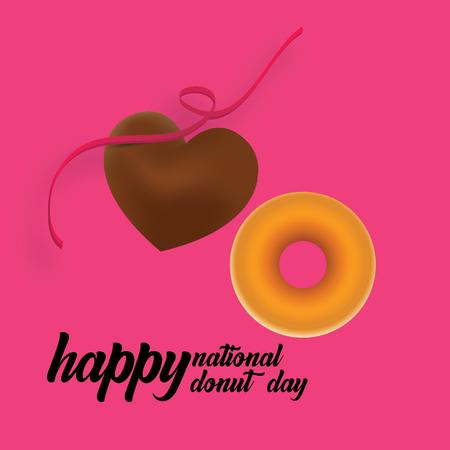 Donut National Day Illustration - Vector