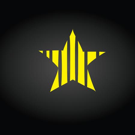 Sternsymbol Vektor. Bewertungssymbol für Webdesign - Vektor