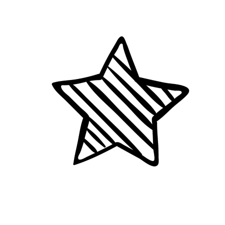 Star Icon vector. Rating symbol for web design - Vector
