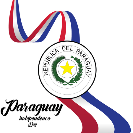 Vector illustration of a background for Paraguay Happy Independence day. - Vector