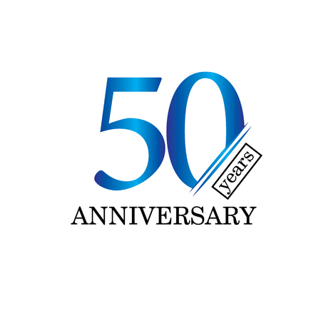50 Year Anniversary Vector Template Design Illustration - Vector