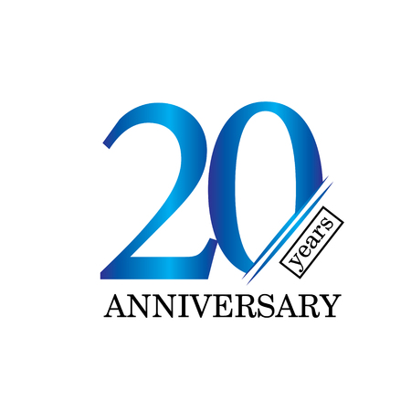 20 Year Anniversary Vector Template Design Illustration - Vector