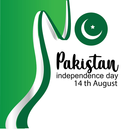 Celebrating Pakistan Independence Day creative vector illustration. 14th August pakistan independence. vector 向量圖像