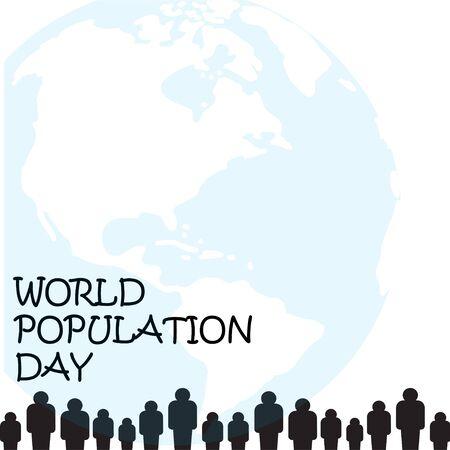 Vector illustration,banner or poster of world population day.