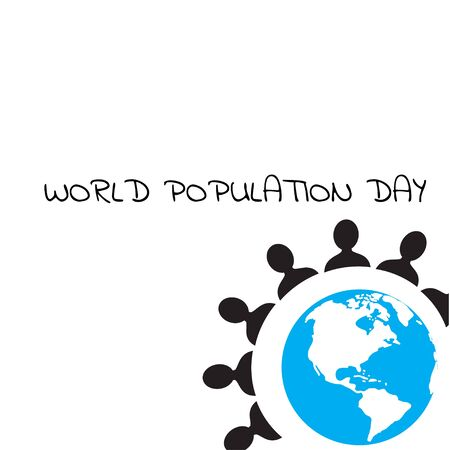 Vector illustration,banner or poster of world population day.