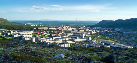 View of the city of Kirovsk from the slope of Mount Aikuivenchorr
