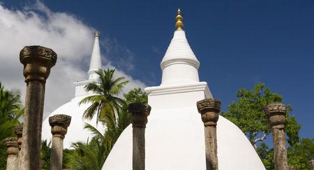 sri lanka temple: Stupa at Mihintale buddhist temple, Sri Lanka
