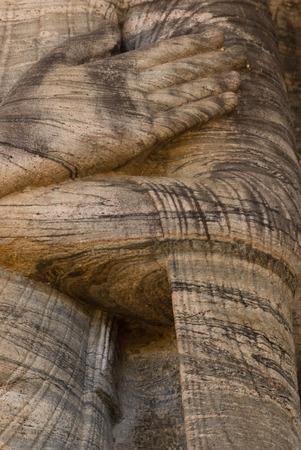 lass: Closeup of  standing Buddha statue at Gal vihare, Polonnaruwa, Sri Lanka