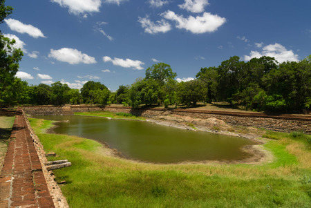 anuradhapura: Ruins of ancient royal swiming pool, Anuradhapura, Sri Lanka