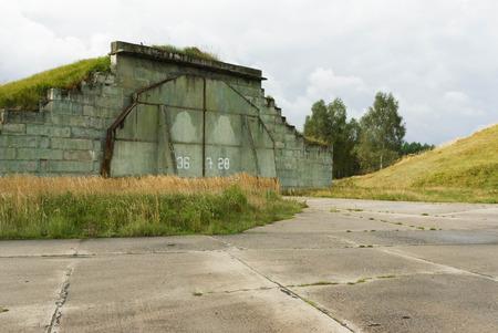 hangar: Soviet military aircraft hangar and bunker