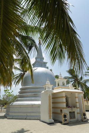 buddhist stupa: Small buddhist stupa and temple at Nagadipa island, Sri Lanka