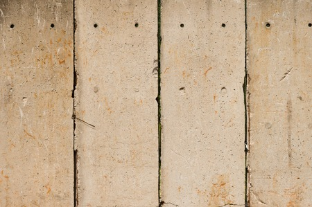 slabs: Industrial protective wall made of concrete slabs Stock Photo