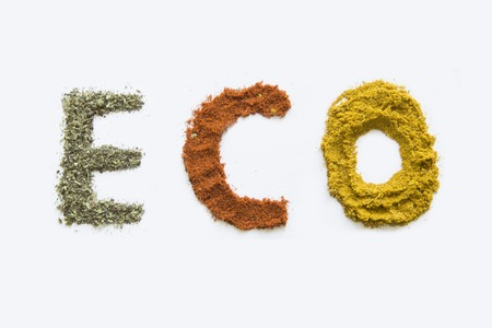 spice isolated: Eco spice. Isolated on a white background. Stock Photo