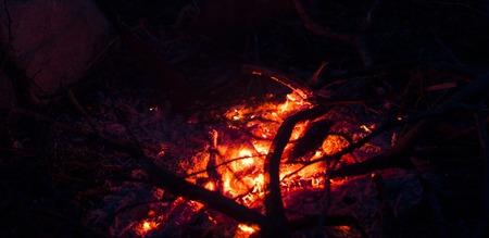 burns night: The coals of a campfire closeup bacground