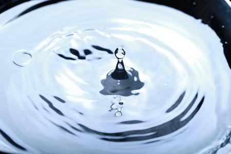 falling down: Drop of water falling down. Close up