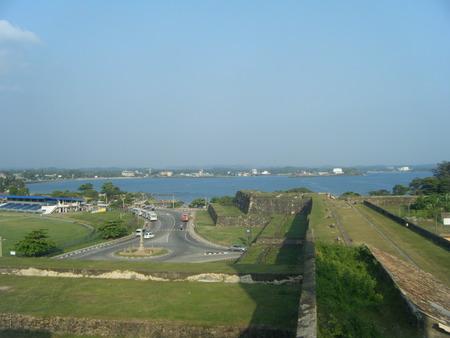 Fort overlooking city Banco de Imagens