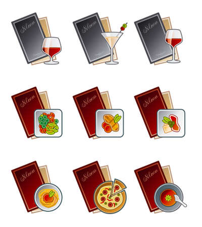 soup and salad: Design Elements 47c. Menu Icons Set its a high resolution image with CLIPPING PATHS for general use. I hope youll enjoy. Stock Photo