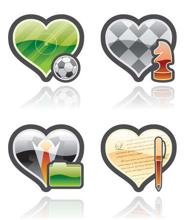 I love it Icons Set - Design Elements 53a photo