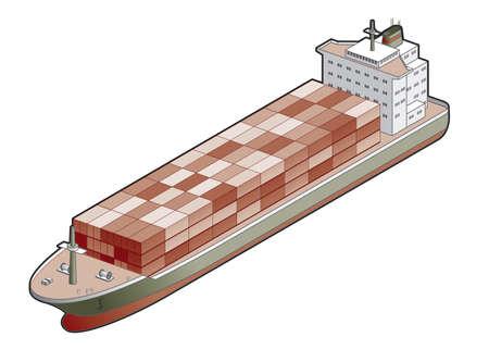 containerschip: Container Schip-symbool. Design Elements 41a, itsa hoge resolutie afbeelding met CLIPPING PATH voor eenvoudige achtergrond verwijderen indien u dat wenst.
