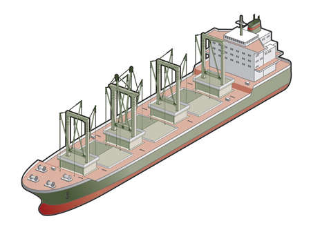 bulk: Bulk Carrier whit Cranes Icon. Design Elements 41e, its a high resolution image with CLIPPING PATH for easy remove background if you wish.
