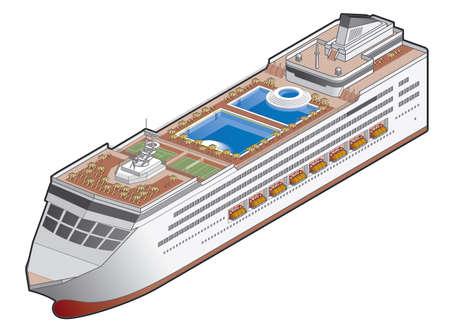 ship icon: Icona nave passeggeri. Elementi di design 41h, it�s l'immagine ad alta risoluzione con STAMPA PATH per rimuovere sfondo facile se lo si desidera.