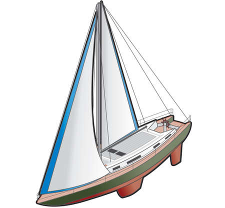 Sailboat Ship Icon. Design Elements 41k, its a high resolution image with CLIPPING PATH for easy remove background if you wish. photo