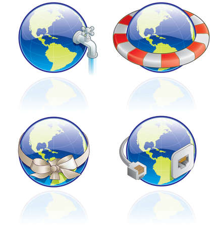 unwanted: The Globe Icons Set - Design Elements 54c, it�s a high resolution image with CLIPPING PATH for easy remove unwanted shadows underneath. Stock Photo