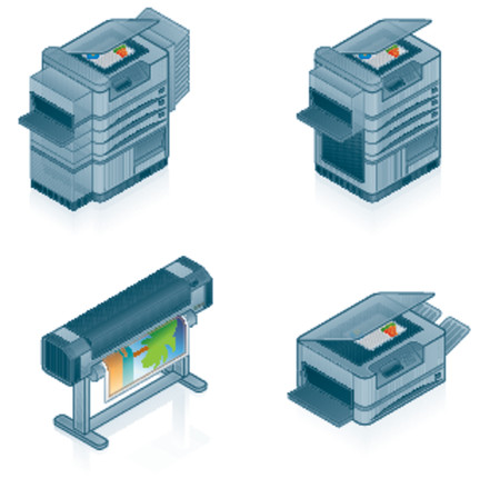Computer Hardware Icons Set - Design Elements 55p, it's specially designed with a web designers in mind to achieve PIN SHARP ICONS ON A SCREEN Vetores