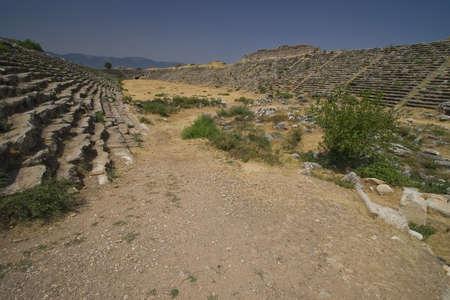 teknik: Ancient Stadium in Aphrodisia, Anatolia, south west of Turkey