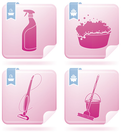 Cleaning Appliances Stock Vector - 7006491