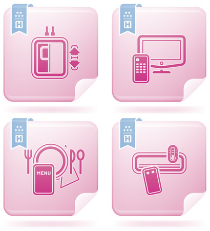 Hotel Related Icons Illustration