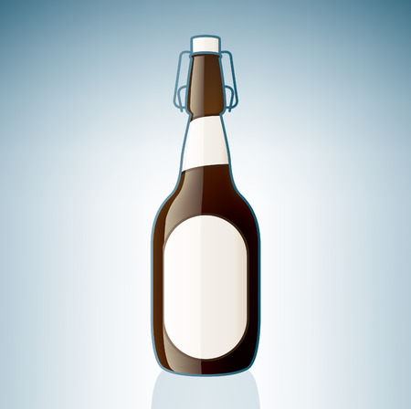 Brown Beer Bottle (part of the Alcohol Glass Icons Set) Stock Vector - 7247343