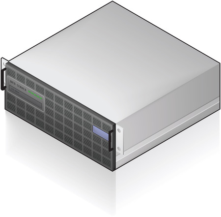 Single Server Unit Isometric 3D Icon