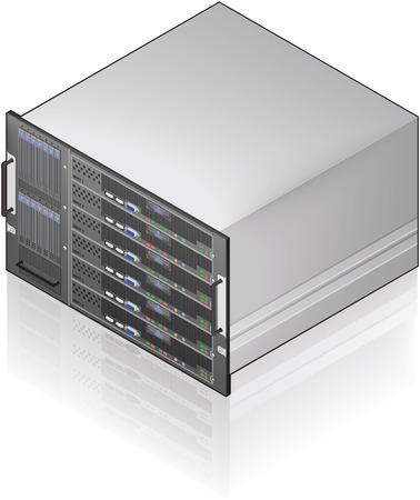 Single Server Einheit isometrische 3D-Symbol