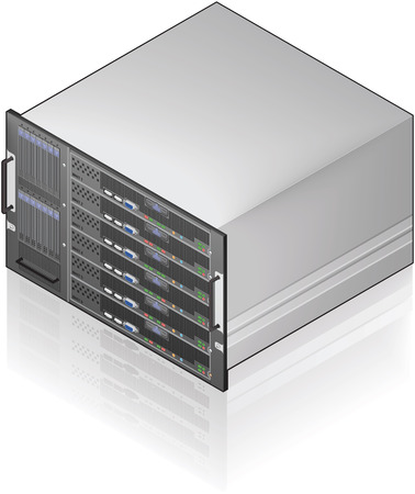 Singola icona Server 3D isometrico Unit