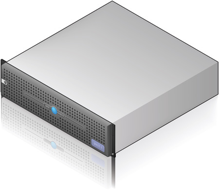 Low Profile Single Server Unit Isometric 3D Icon (part of the Computer Hardware Icons Set)