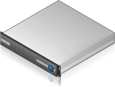 Icono de servidor único unidad isométrica 3D de bajo perfil