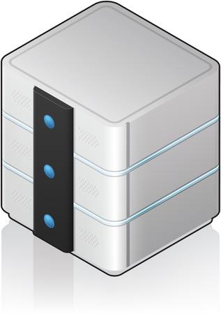 Futuristic Medium Size Single Server Rack Isometric 3D Icon