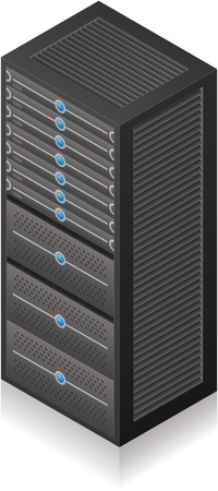 Solo icono de servidor Rack isométrica 3D