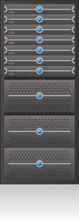 Single Server Rack 2D Icon